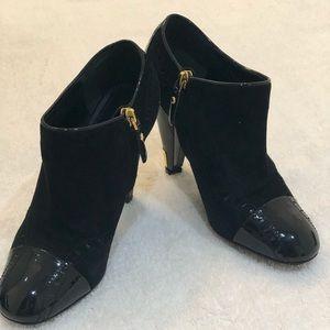 Louis Vuitton suede ankle bootie